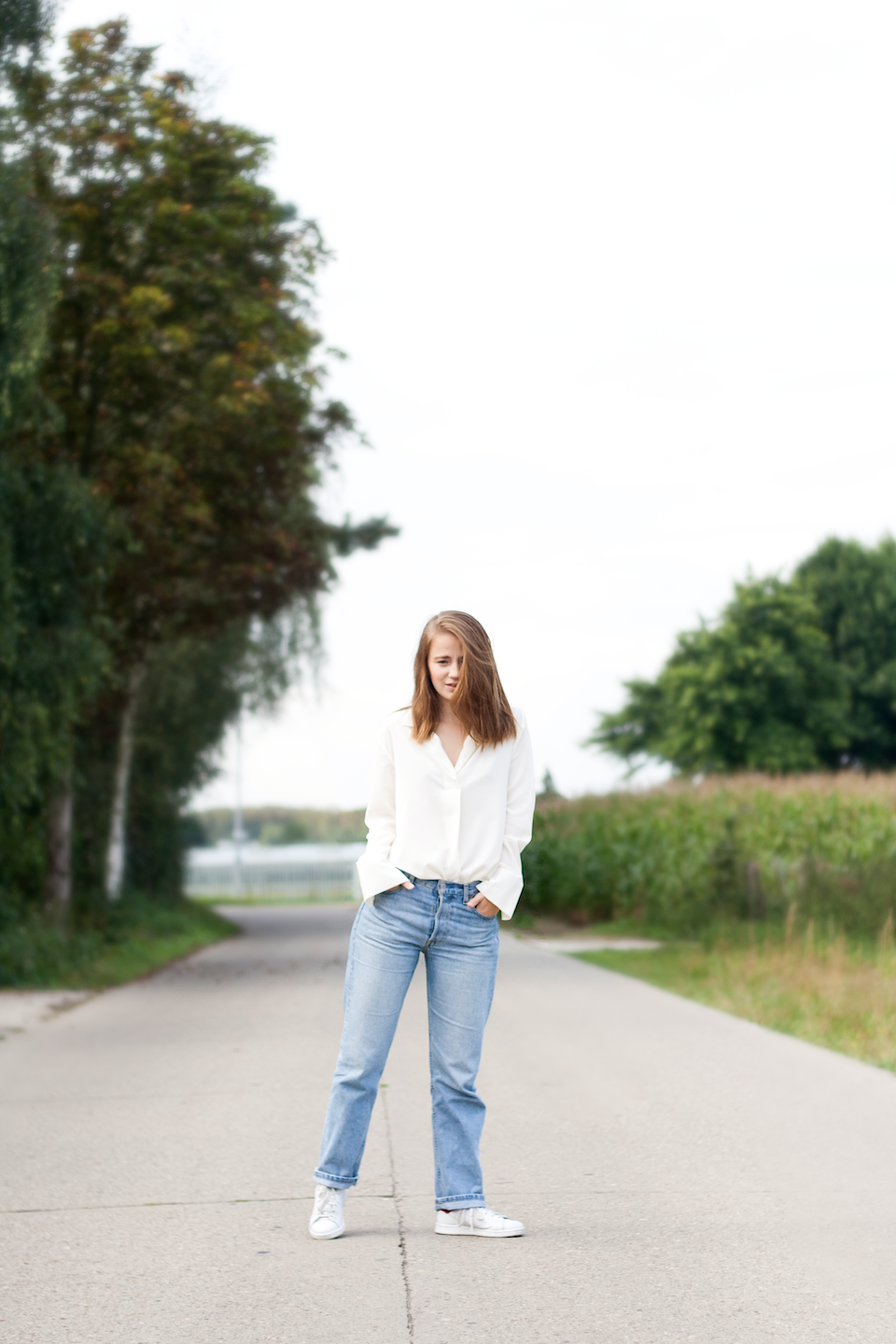 Levi's, ootd, We, We fashion , white blouse, jeans, 501, Vintage, outfit