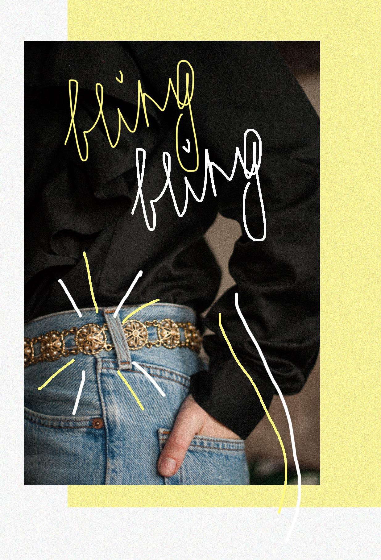 Bling bling, ootd, Levi's, 501, ruffles, Vintage