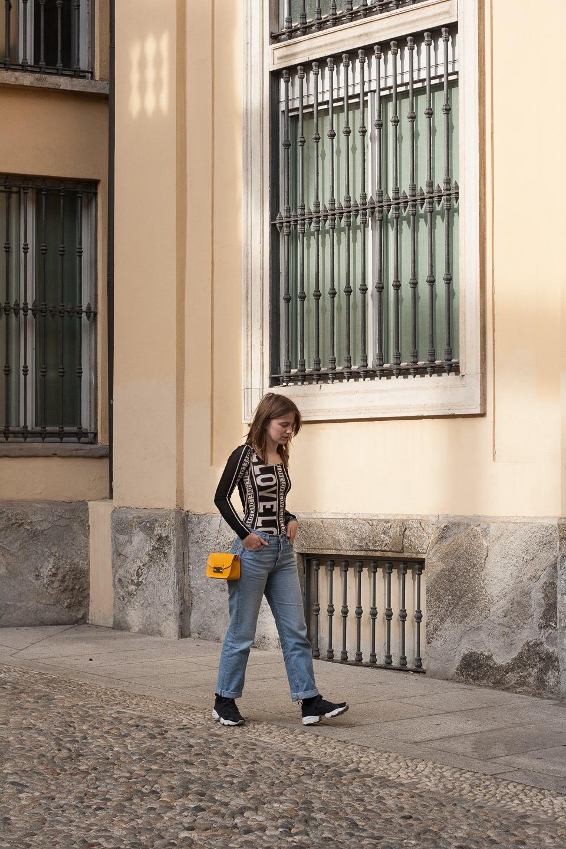 ootd, Love, H&M Studio, Jeans, Milan, Furla