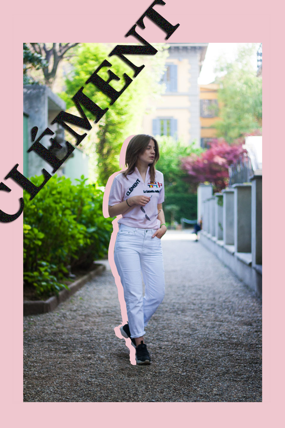 ootd, Italy, pink, white