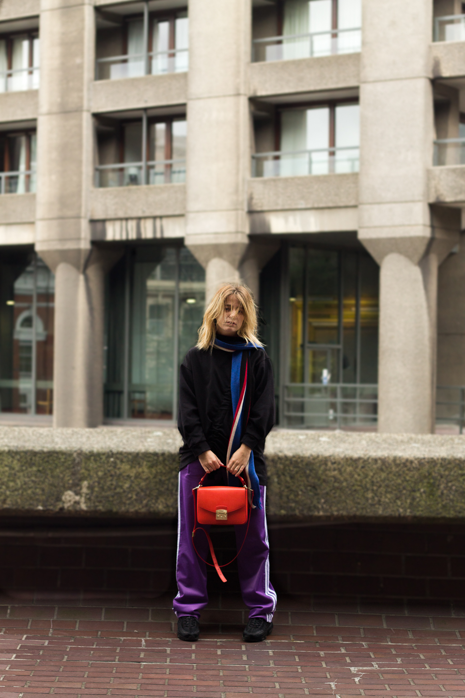 BARBICAN, ootd, London, Jogging, JW Anderson, purple