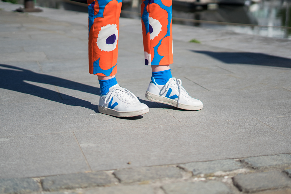 ootd, Veja, Marimekko, Swedish blue, Swedish stockings